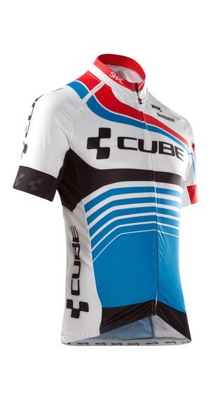 Cube Teamline Jersey korte mouwen blauw/wit